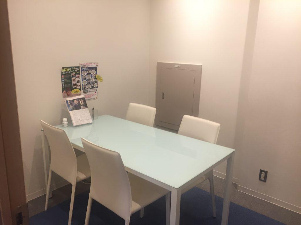 JAICの個別面談室
